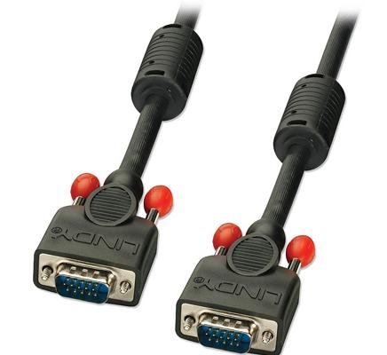 Lindy Cavo Monitor S-VGA Premium Nero,3m