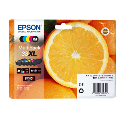Epson T33 Xl Ink Claria Multipack 5col