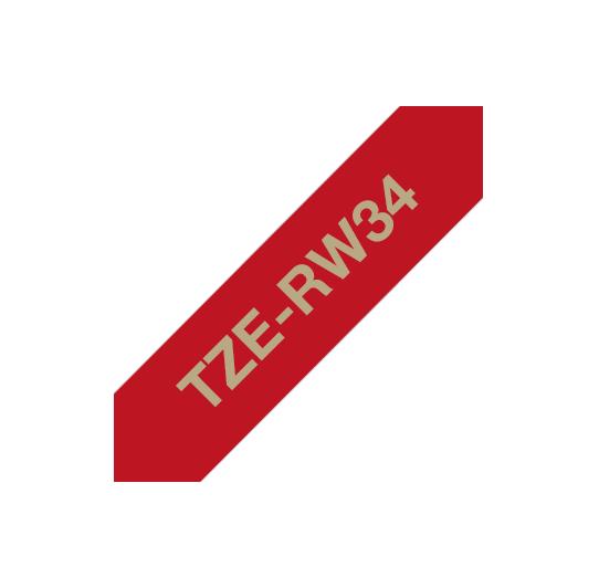 BROTHER TZERW34 NASTRO ORO / ROSSO