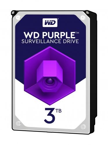 WD HDD 3TB 5400RPM SATA III 64MB PURPLE