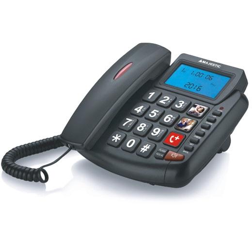 MAJESTIC TELEFONO FISSO BILLY-200 BK