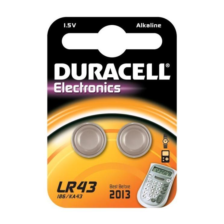 DURACELL LR43/V12GA - 1,5volt - Bl 2Pz
