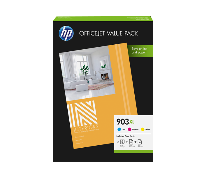 HP 1CC20AE 903XL INK CARTRIDGE PACK CMY