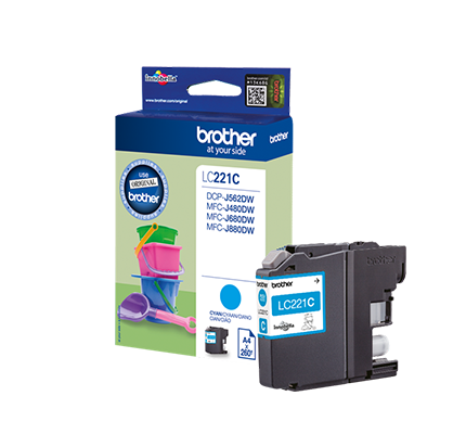 BROTHER LC-221C INK JET CIANO