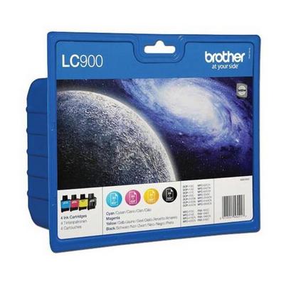 BROTHER LC-900VALBP KIT INK C,Y,M,BK **
