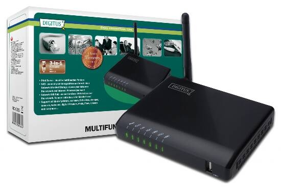 DIGITUS PRINT SERVER WI-FI 4 PORTE USB