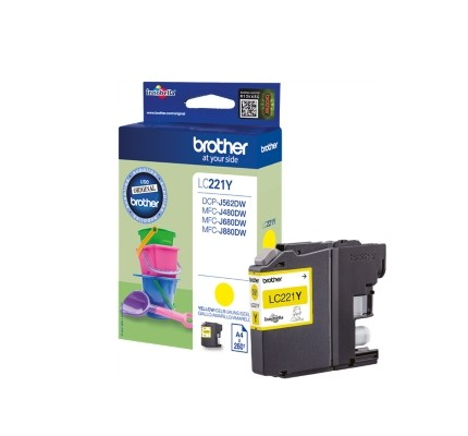 BROTHER LC-221Y INK JET GIALLO