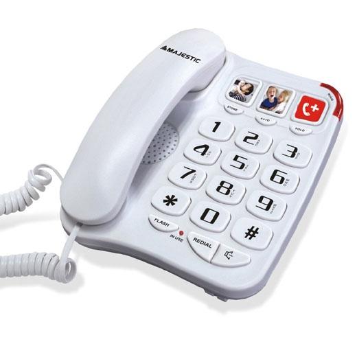 MAJESTIC TELEFONO FISSO BILLY-201 WH