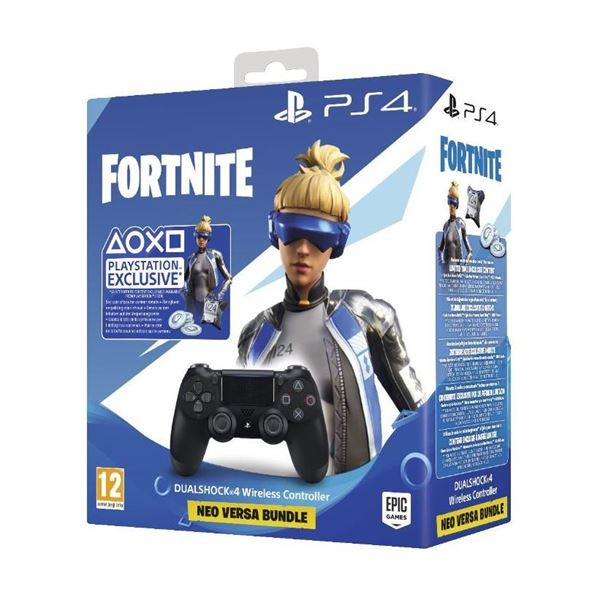 SONY DUALSHOCK 4 BLACK V2 +FORTNITE VHC