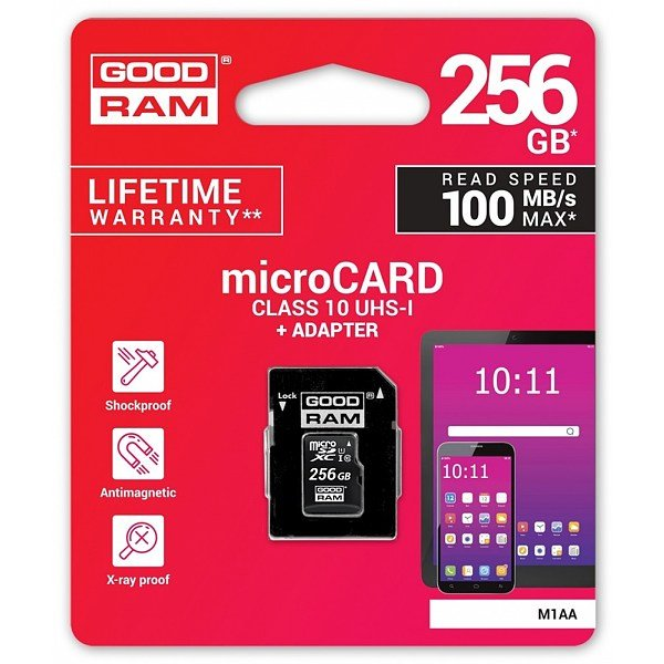 GOODRAM MICRO SD 256GB + ADATTATORE