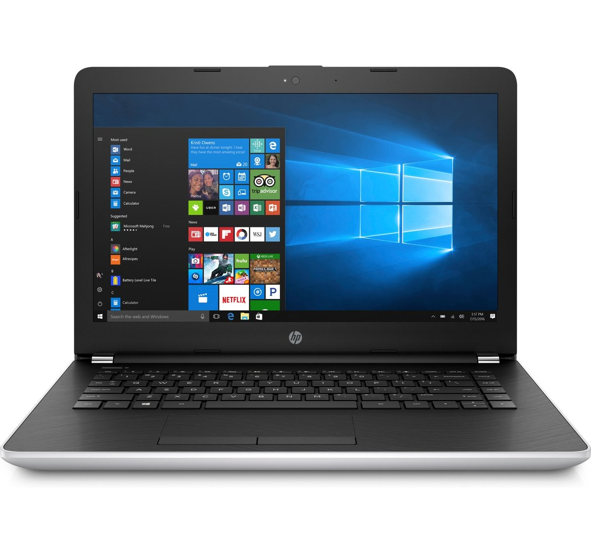 HP Core i3-7020U 4GB 500GB 14 W10H