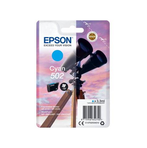 EPSON 502 T02V24010 INK JET CIANO