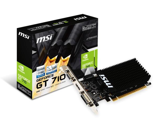 MSI VGA GT 710 2GB DDR3 DL DVI HDMI LP