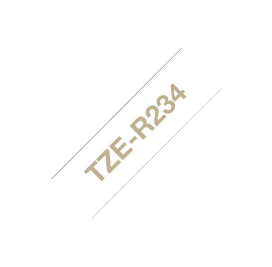 BROTHER TZER234 NASTRO ORO / BIANCO