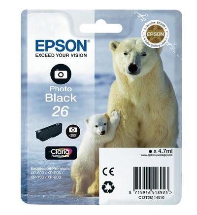 Epson Xp-600 T26114022 Ink Jet Blk Foto