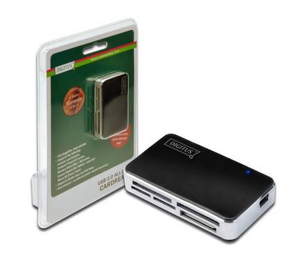 DIGITUS LETTORE CARD USB 2.0 BIANCO