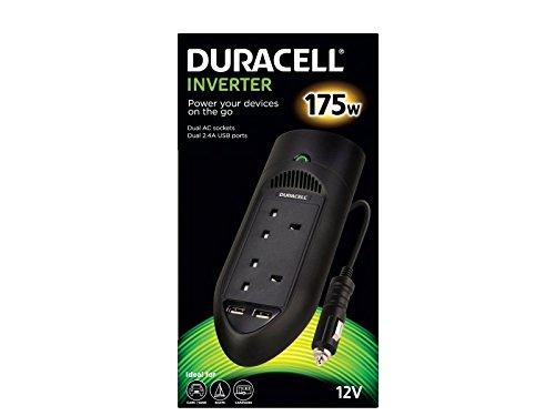 Duracell Inverter doppia presa 175W 2USB