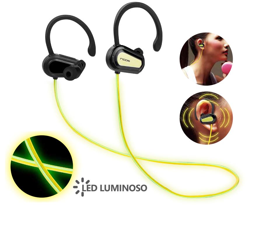 NODIS Cuffia Sport Bluetooth Stereo LED