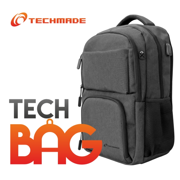 TECHMADE ZAINO TECHBAG-O -BK NERO