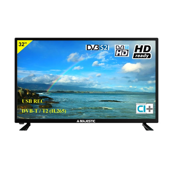 MAJESTIC TVLED 32 HD-READY DVB-T/T2/S2