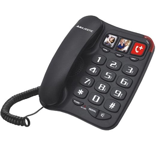 MAJESTIC TELEFONO FISSO BILLY-201 BK