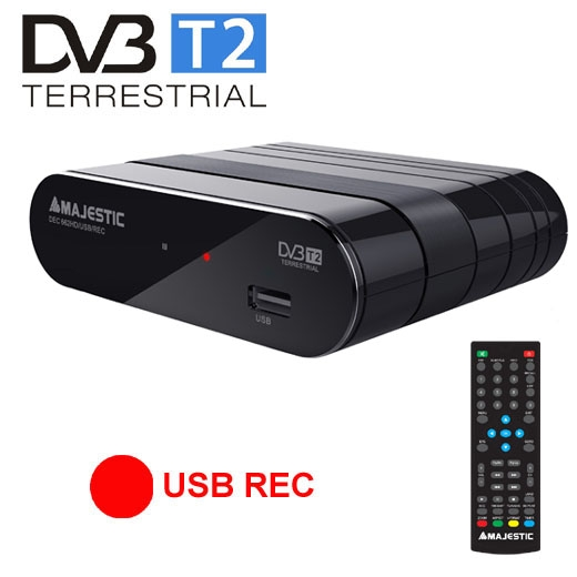 MAJESTIC DECODER DVB-T DEC662 HD USB REC