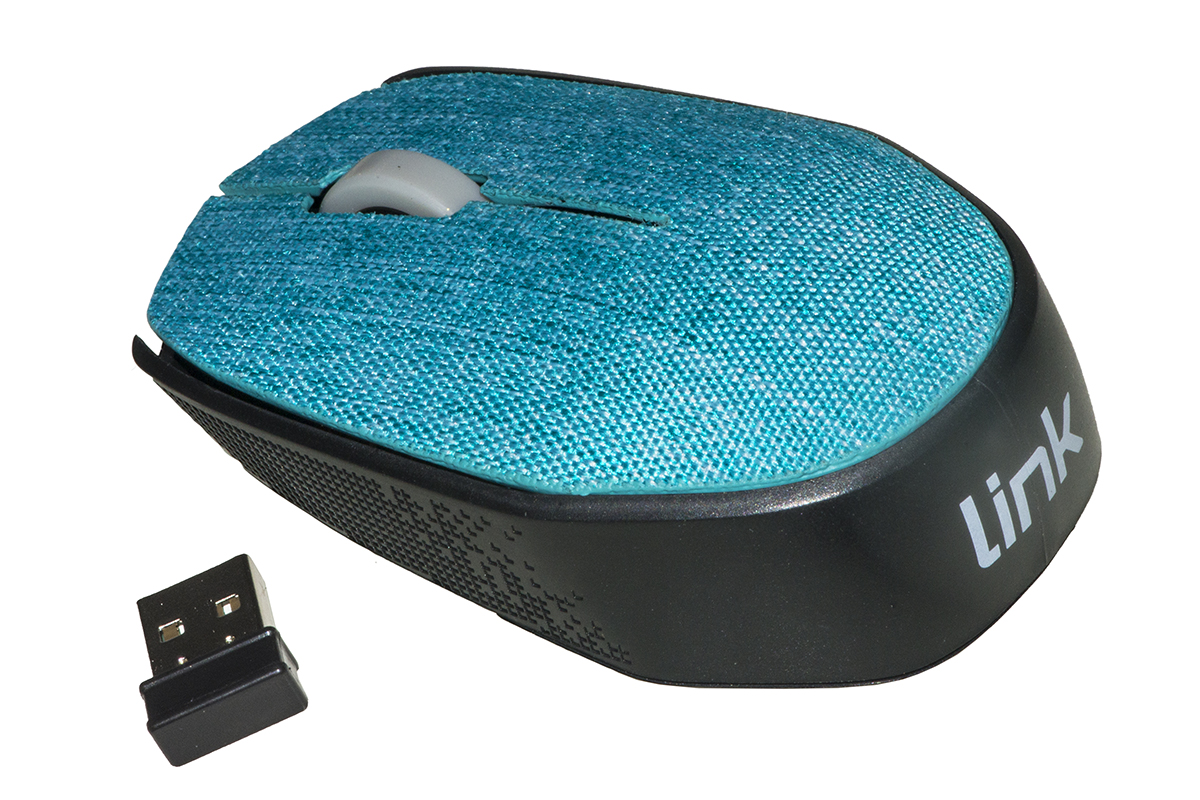 LINK MOUSE WIRELESS IN TESSUTO AZZURRO