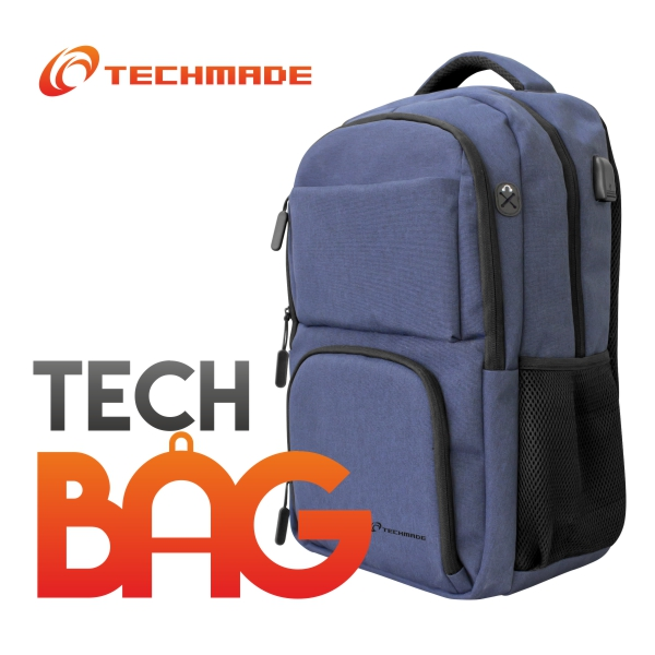 TECHMADE ZAINO TECHBAG-O -BL BLU