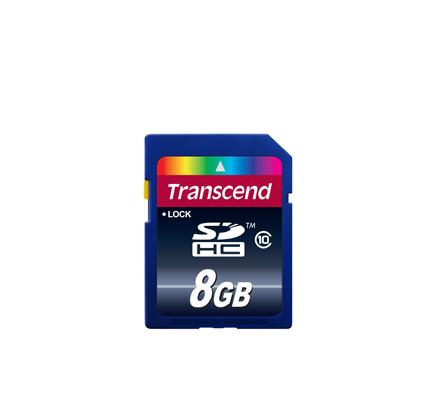 TRANSCEND SECURE DIGITAL 8GB HC CLASSE10