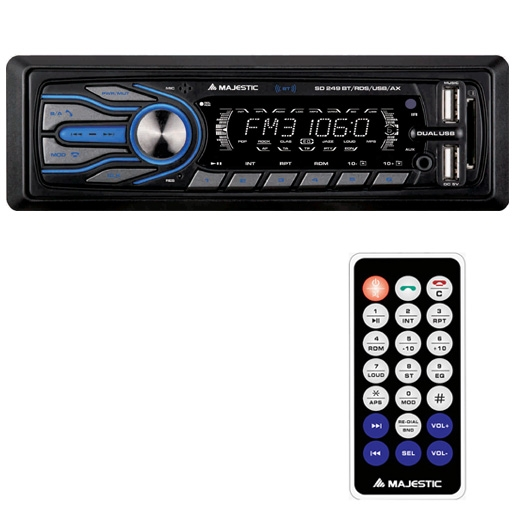 MAJESTIC AUTORADIO SD-249 BT/RDS/USB/AX