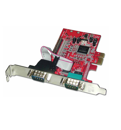Lindy Scheda PCIe 2S1P