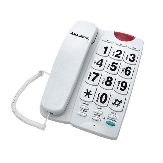 MAJESTIC TELEFONO FISSO BILLY-202 WH