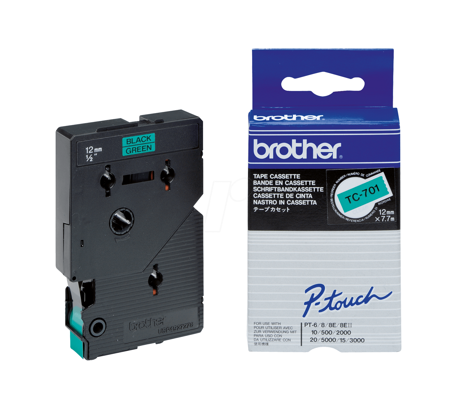 Brother Tc-701 Nastro Tc Nero / Verde #*