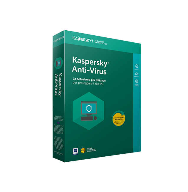 Kaspersky Anti-Virus 2019 ita 3User 1Y
