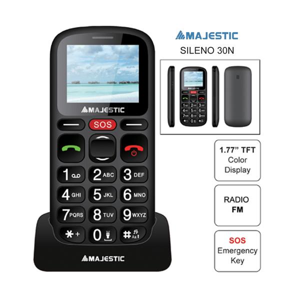 MAJESTIC SENIOR PHONE TLF-SILENO 30N BK