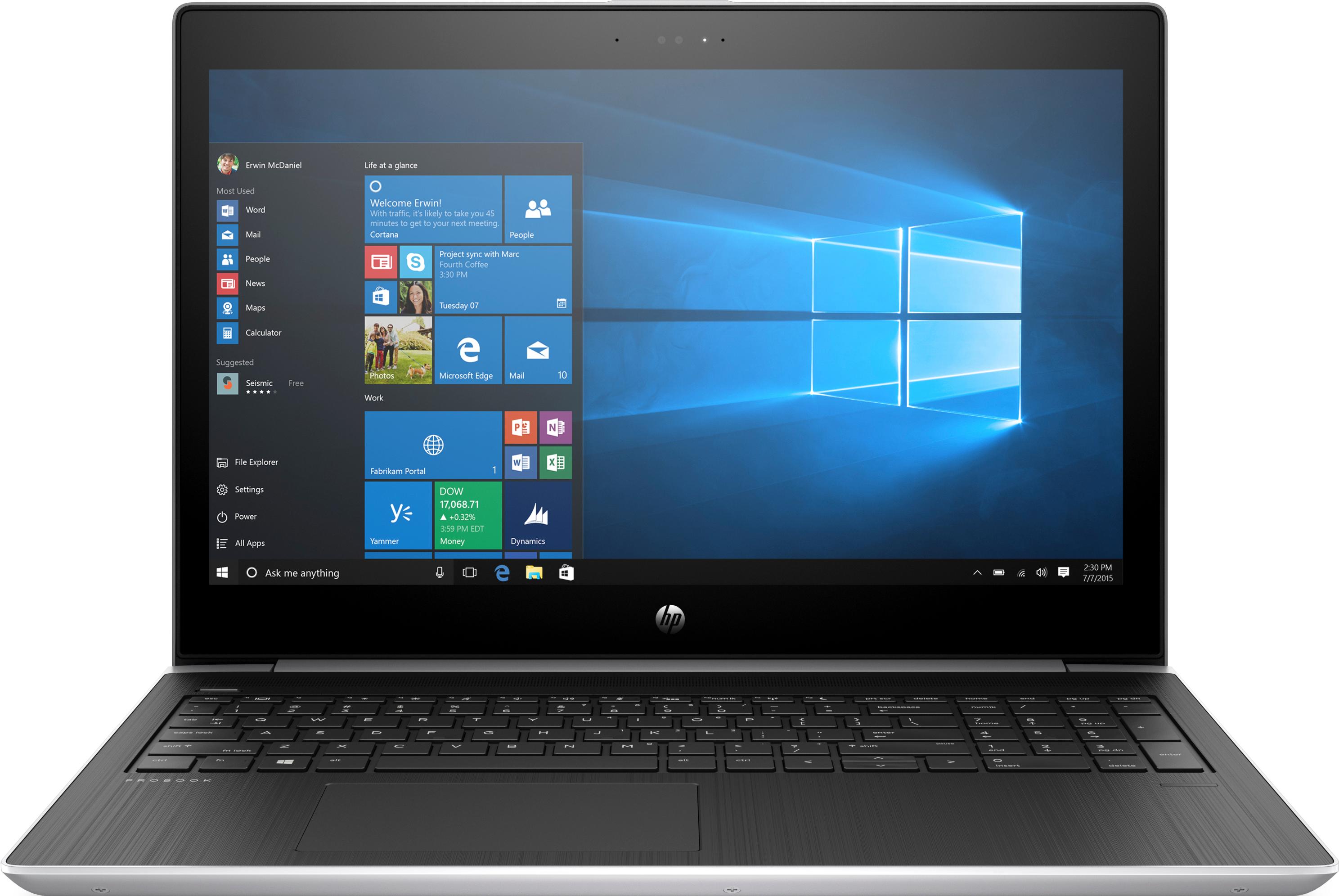 HP core i7-7500U 8GB 256GB 15,6 W10P