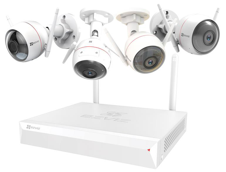 EZVIZ Kit Videocontrollo +4 Camere