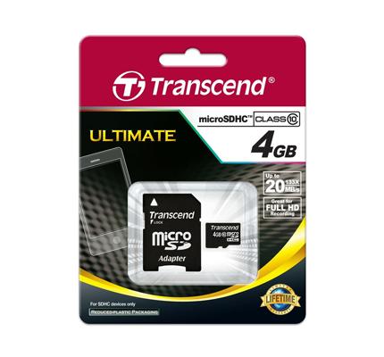 TRANSCEND MICRO SD 4GB 2 IN 1 HC10
