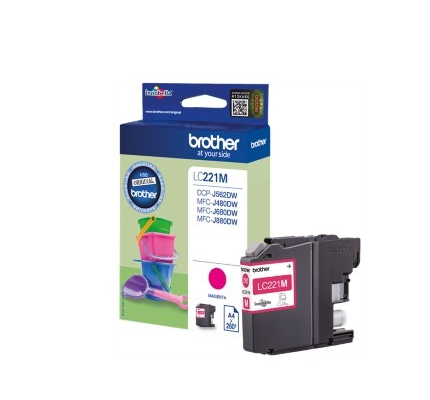 BROTHER LC-221M INK JET MAGENTA