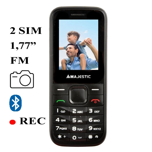 MAJESTIC PHONE GSM TLF LUCKY 55 2 SIM