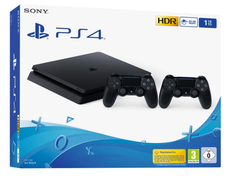 SONY PS4 1TB F Chassis Black+Secondo DS4