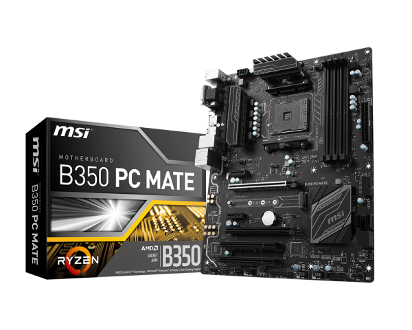 MSI MB B350 PC MATE SOCK AM4 4DDR4 2*PC1