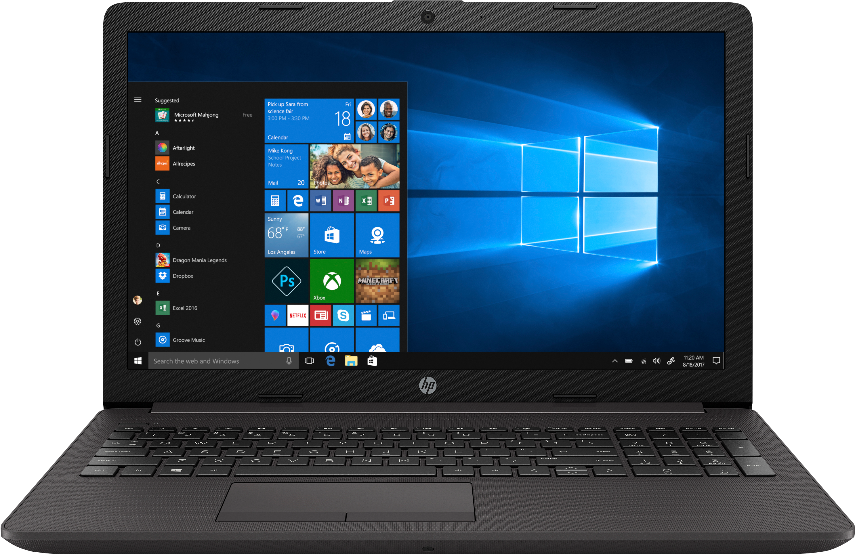 HP AMD A4-9125 4GB 256GB 15.6 W10H