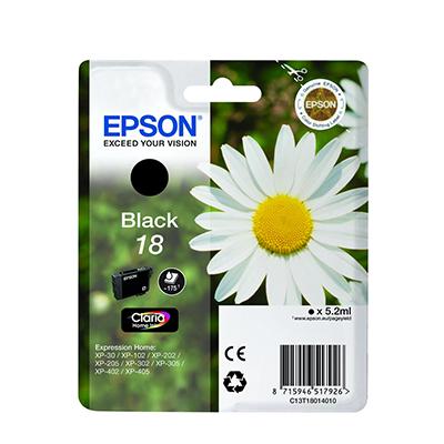 Epson Xp-102 T18014022 Ink Jet Nero