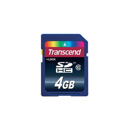 TRANSCEND SECURE DIGITAL 4GB HC CLASSE10