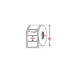 Meteor Etichette vellum an.25 mm. 41X23