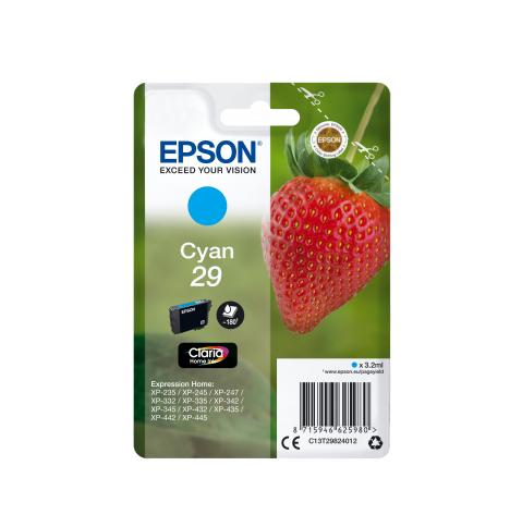 EPSON T29824022 INK CIANO CLARIA