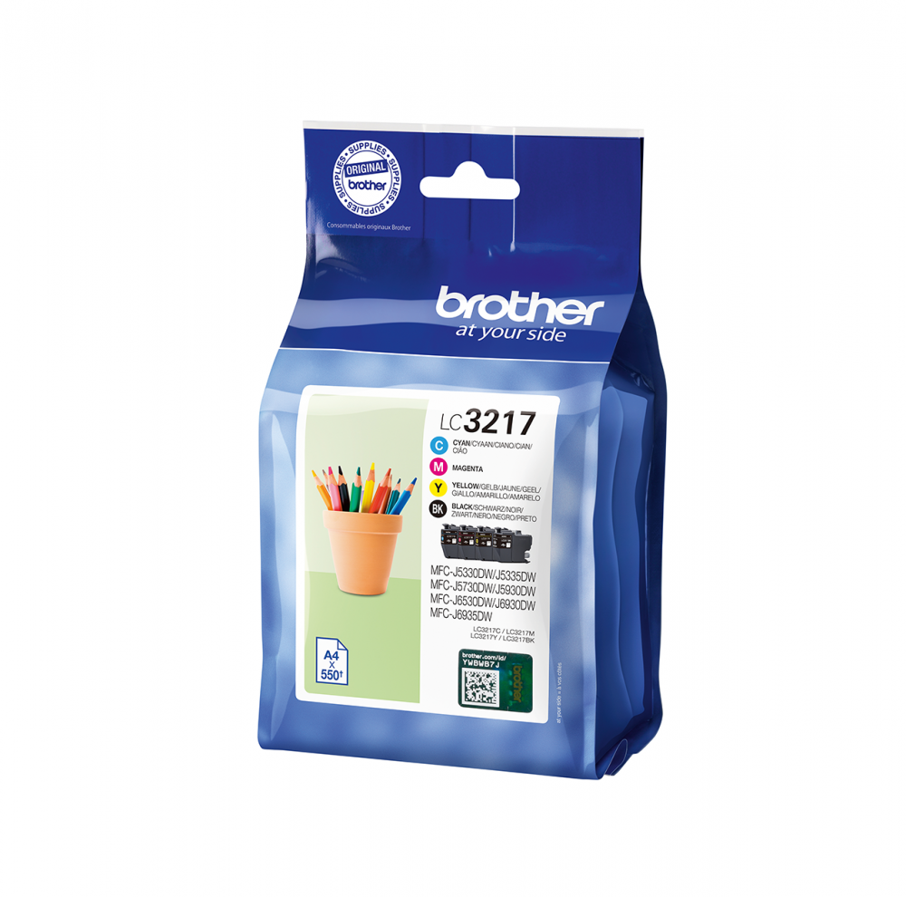BROTHER LC-3217VAL KIT INK C,Y,M,BK