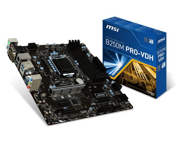 MSI MB B250M PRO-VDH LGA 1151