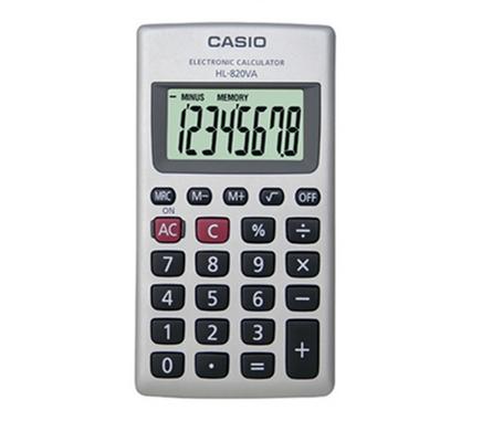 Casio Calcolatrice Tascabile HL-820VA